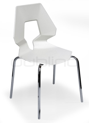 Chrome framed chair with plastic seat (Technopolymer), in different colors - G PRODIGE CR