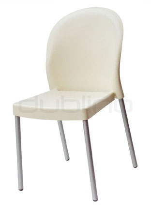 Aluminium framed chair with plastic seat (Technopolymer), in different colors - G MILU