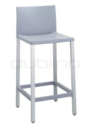 Aluminium framed bar stool with plastic seat (Technopolymer) in different colors - G LIBERTY 60