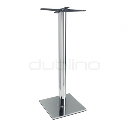 Stainless steel bar table base - P 400 cr/110