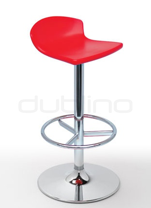 Chrome bar stool, plastic seat in different colors - G FREE CR