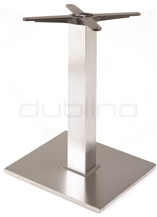 Stainless steel framed table base - P 400 Q INOX