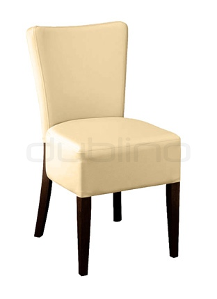 Beech wood frame chair with your choice of upholstery and stain colour, artificial leather. - LT 7621