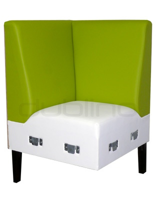 Box with your optional choice of stain colors, fabrics and artificial leather - Dublino System/20/S