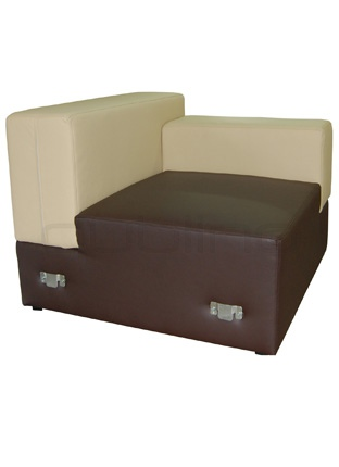 Box with your optional choice of stain colors, fabrics and artificial leather - Dublino System/50/S/02