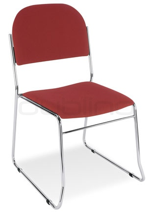Metal chair with upholstered seat and back support - Y VESTA