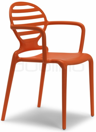 Plastic chair in different colors. Min. order: 16 pcs - BC 2280 COK