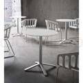 WHITE COMPACT TABLE HPL TOP #11