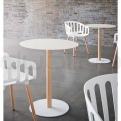 WHITE COMPACT TABLE HPL TOP #9