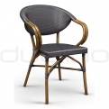 Patio & outdoor wicker, rattan dining chairs - DL VENUS BLACK