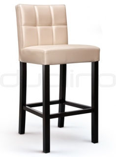 Beechwood frame barstool with optional colours and fabrics, and artificial leather. - OB V2010