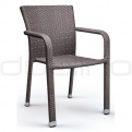 Patio & outdoor wicker, rattan dining chairs - DL BUDDHA BROWN SOLANA
