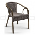 Patio & outdoor wicker, rattan dining chairs - DL ROYAL DARK