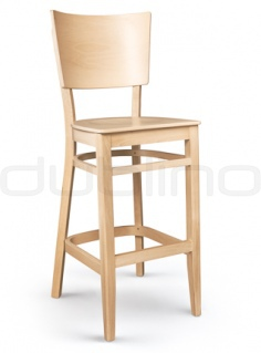 bar stool made ​​of beech wood in natural color - XTON 08 SG NATUR