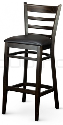 Chair with wooden frames in color wenge - XTON 03 SG UP