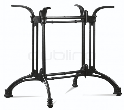 Cast iron, rustic look table base in black color - P 7021