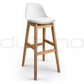 Wood bar stools - DL FINE BS WHITE