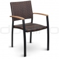 Patio & outdoor wicker, rattan dining chairs - DL STOCKHOLM