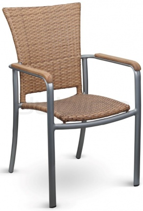 Aluminium framed chair. For outdoor use. - DL SOPHIE NATURAL