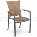 Patio & outdoor wicker, rattan dining chairs - DL SOPHIE NATURAL
