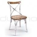 Wooden chairs - DL CROSS WHITE