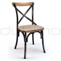 Wooden chairs - DL CROSS BLACK