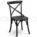 Wooden chairs - DL CROSS OAK BLACK