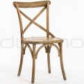 Wooden chairs - DL CROSS OAK NATURE