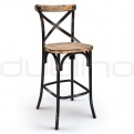 Metal bar stools - DL CROSS BS BLACK