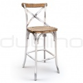 Wood bar stools - DL CROSS BS WHITE