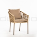 Patio & outdoor wicker, rattan dining chairs - DL GOA ARMCHAIR