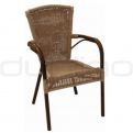 Patio & outdoor wicker, rattan dining chairs - KJ CHAIR 107/D