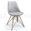 Plastic chairs - DL SPOT X WOODLEG GREY