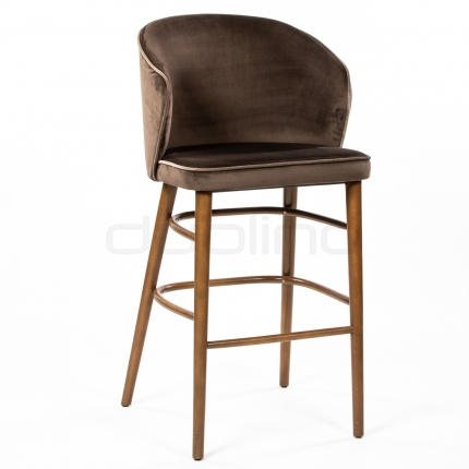 Upholstered restaurant bar stool - LS LODEN BS