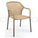 Patio & outdoor wicker, rattan dining chairs - DL DELHI TAUPE