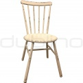 Vintage chair, cross back chair - DL PALMA WHITE