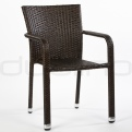 Patio & outdoor wicker, rattan dining chairs - DL BUDDHA CHOCOLATE