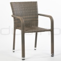 Patio & outdoor wicker, rattan dining chairs - DL BUDDHA GREY