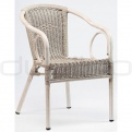 Patio & outdoor wicker, rattan dining chairs - DL ROYAL VINTAGE WHITE