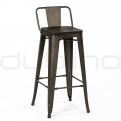 Metal bar stools - DL WOOD FACTORY BS LB WOOD SEAT