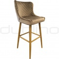 Metal bar stools - DL CRYSTAL BS TAUPE