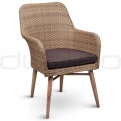 Patio & outdoor wicker, rattan dining chairs - DL TERNI