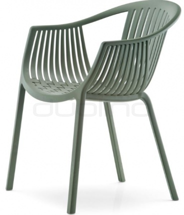 Plasitc outdoor chair - PEDRALI TATAMI ARMCHAIR GREEN