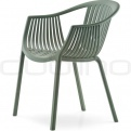 Patio & outdoor plastic chairs - PEDRALI TATAMI ARMCHAIR GREEN