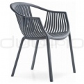 Plastic chairs - PEDRALI TATAMI GREY