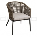 Patio & outdoor wicker, rattan dining chairs - GR TRINIDAD