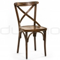 Vintage chair, cross back chair - XTON 05 FRENCH PATINA