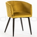 Upholstered dining chairs - DL KING YELLOW