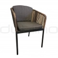 Patio & outdoor wicker, rattan dining chairs - DL PANDA CHOCOLATE CHAIR