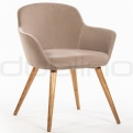 Upholstered dining chairs - DL MONI CREAM